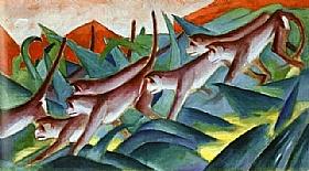 Franz Marc, Frise de singes - GRANDS PEINTRES / Marc