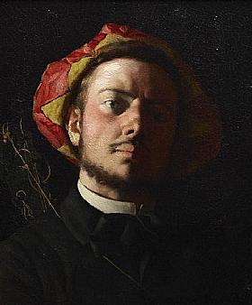Frédéric Bazille, Portrait de Paul Verlaine - GRANDS PEINTRES / Bazille