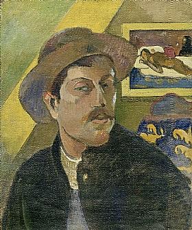 Paul Gauguin, Autoportrait au chapeau - GRANDS PEINTRES / Gauguin