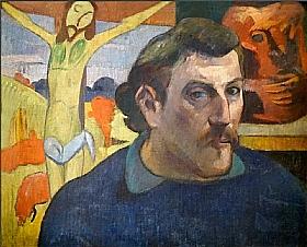Paul Gauguin, Autoportrait au christ jaune - GRANDS PEINTRES / Gauguin
