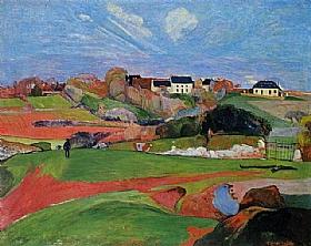 Paul Gauguin, Champs vers Le Pouldu - GRANDS PEINTRES / Gauguin