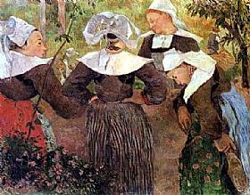 Paul Gauguin, La danse des quatre bretonnes - GRANDS PEINTRES / Gauguin