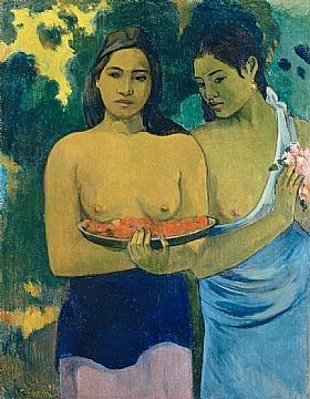 Paul Gauguin, Deux tahitiennes-GRANDS PEINTRES-Gauguin