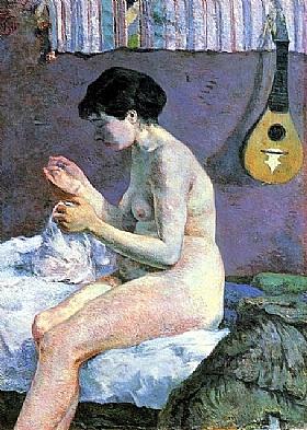 Paul Gauguin, Etude Nu - Suzanne cousant - GRANDS PEINTRES / Gauguin