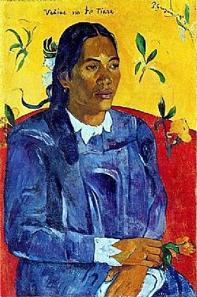 Paul Gauguin, Femme à la fleur - GRANDS PEINTRES / Gauguin