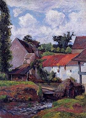 Paul Gauguin, Fermes à Osny - GRANDS PEINTRES / Gauguin