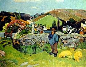 Paul Gauguin, Le gardien de cochons - GRANDS PEINTRES / Gauguin