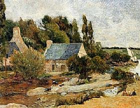 Paul Gauguin, Lavandières à Pont Aven - GRANDS PEINTRES / Gauguin