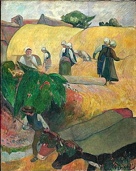 Paul Gauguin, Meules jaunes de la moisson - GRANDS PEINTRES / Gauguin