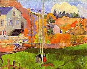 Paul Gauguin, Paysage breton - GRANDS PEINTRES / Gauguin