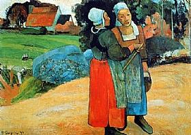 Paul Gauguin, Paysannes bretonnes - GRANDS PEINTRES / Gauguin