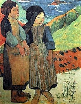 Paul Gauguin, Deux fillettes bretonnes - GRANDS PEINTRES / Gauguin