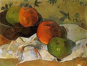 Paul Gauguin, Pommes et coupe - GRANDS PEINTRES / Gauguin