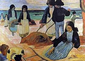 Paul Gauguin, Ramasseurs de Varech - GRANDS PEINTRES / Gauguin