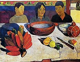 Paul Gauguin, Le repas les bananes - GRANDS PEINTRES / Gauguin