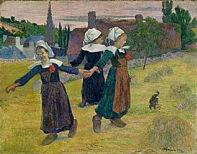 Paul Gauguin, La ronde des petites bretonnes-GRANDS PEINTRES-Gauguin