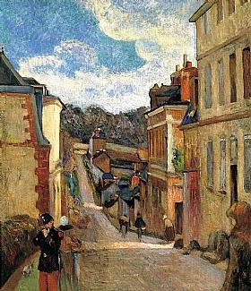 Paul Gauguin, Rue Jouvenet à Rouen - GRANDS PEINTRES / Gauguin