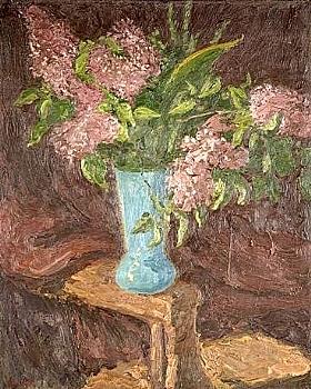 Georges Bouche, Fleurs dans un vase - GRANDS PEINTRES / Bouche