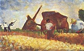 Georges Seurat, Les terrassiers - GRANDS PEINTRES / Seurat