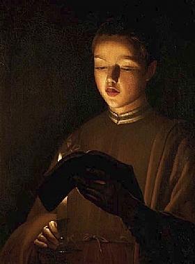 Georges de La Tour, Le jeune chanteur - GRANDS PEINTRES / De la Tour