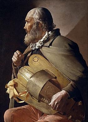 Georges de La Tour, Le vielleur aveugle - GRANDS PEINTRES / De la Tour
