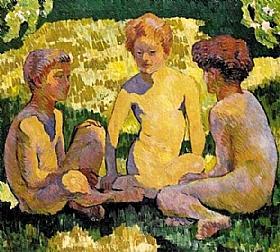 giovanni Giacometti, Enfants au soleil - GRANDS PEINTRES / Giacometti