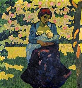 Giovanni Giacometti, Une mère - GRANDS PEINTRES / Giacometti