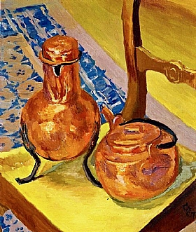 Giovanni Giacometti, Cuivres et chaise - GRANDS PEINTRES / Giacometti