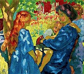 Giovanni Giacometti, Famille sous un vieil arbre - GRANDS PEINTRES / Giacometti