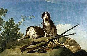 Francisco de Goya, Chiens et matériel de chasse - GRANDS PEINTRES / Goya