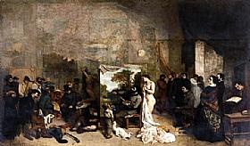 Gustave Courbet, L'atelier du Peintre - GRANDS PEINTRES / Courbet