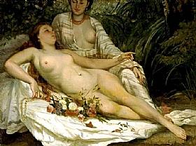 Gustave Courbet, Les baigneuses - GRANDS PEINTRES / Courbet