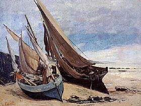 Gustave Courbet, Bateaux de pêche à Deauville - GRANDS PEINTRES / Courbet