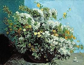 Gustave Courbet, Bouquet de fleurs - GRANDS PEINTRES / Courbet