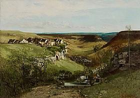 Gustave Courbet, Le château d'Ornans - GRANDS PEINTRES / Courbet