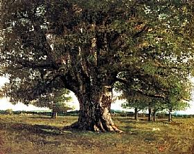 Gustave Courbet, Le chêne de Flagey - GRANDS PEINTRES / Courbet