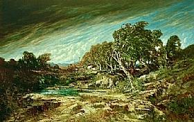 Gustave Courbet, Rafale de vent a Fontainebleau - GRANDS PEINTRES / Courbet