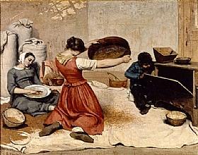 Gustave Courbet, Les cribleuses de blé - GRANDS PEINTRES / Courbet