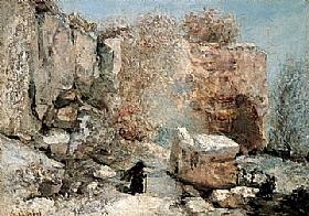Gustave Courbet, Effet de neige dans une carrière - GRANDS PEINTRES / Courbet