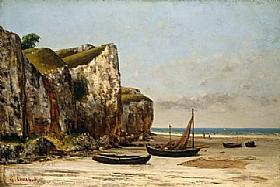 Gustave Courbet, Les falaises d'Etretat - GRANDS PEINTRES / Courbet