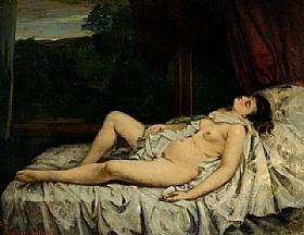 Gustave Courbet, Femme nue dormant - GRANDS PEINTRES / Courbet