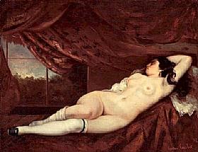 Gustave Courbet, Femme nue couchée - GRANDS PEINTRES / Courbet