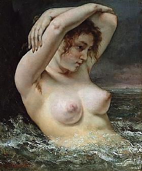 Gustave Courbet, Femme nue dans les vagues-GRANDS PEINTRES-Courbet