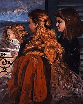 Gustave Courbet, Jeunes anglaises - GRANDS PEINTRES / Courbet