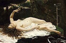 Gustave Courbet, La femme au perroquet - GRANDS PEINTRES / Courbet