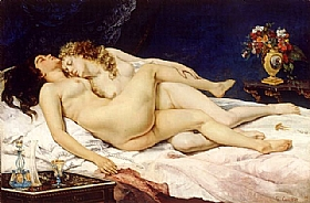 Gustave Courbet, Le sommeil - GRANDS PEINTRES / Courbet