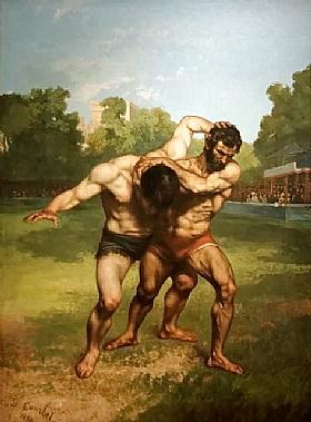 Gustave Courbet, Les lutteurs - GRANDS PEINTRES / Courbet