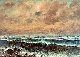 Gustave Courbet, La mer en automne - GRANDS PEINTRES / Courbet