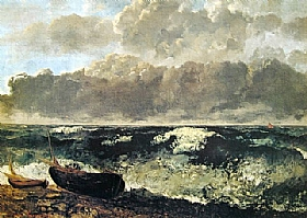 Gustave Courbet, La mer orageuse - GRANDS PEINTRES / Courbet