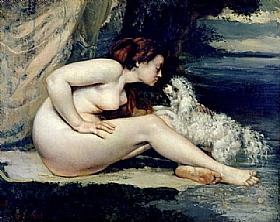 Gustave Courbet, Nu avec un chien - GRANDS PEINTRES / Courbet